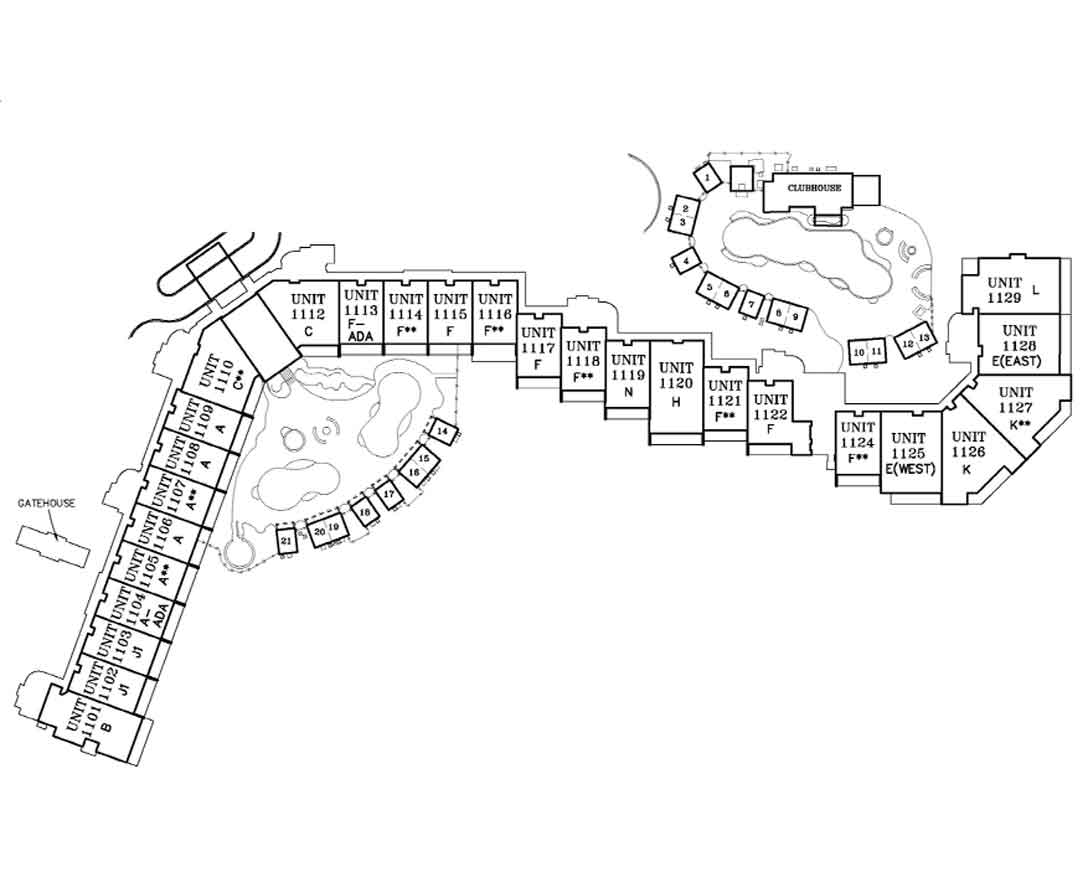 Sanctuary by the Sea site plan