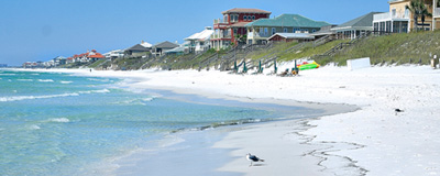Here is the beach in front of one of the Santa Rosa Beach condos for sale